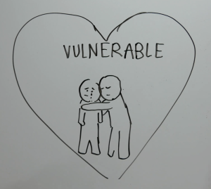being vulnerable