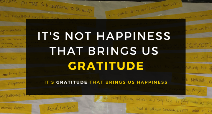 It's Not Happiness That Brings Us Gratitude, It's Gratitude That Brings UsHappiness